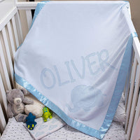 Personalized Baby Blankets Newborn Gifts for Boys, Girls Nursery Décor 6 Different Design and 3 Options Multiple Design