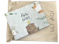 Baby Book First Year & Baby Journal with Dust Bag - Modern Baby Shower Gift & Keepsake for New Parents to Record Photos & Milestones - Five Year Scrapbook & Photo Album Gender-Neutral by Uli Agi