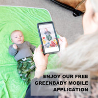 "GreenBaby Monthly Milestone Blanket | Double Sided with Green Effect | Bonus Mobile Application & Milestone Stickers |%100 Organic Fleece Extra Soft | Baby Shower Gift | Newborn Photography | 60""x40"""