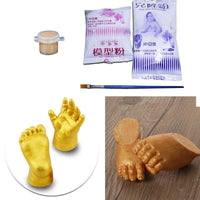 3D Hand & Foot Print mold powder Plaster Casting Kit Handprint Footprint Keepsake Gift Baby Growth Memorial Baby Birthday Gift