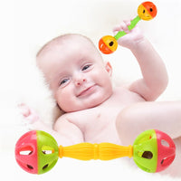 Baby Rattles toy Intelligence Grasping Gums Plastic Hand Bell Rattle Funny Educational Mobiles Toys Early development toy Gifts
