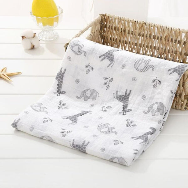 Muslin Cotton Baby Swaddles Soft Newborn Blankets Bath Gauze Infant Wrap Sleepsack Stroller Cover Play Mat Baby Deken