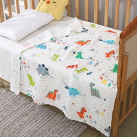 6 Layers cotton unicorn muslin blanket baby swaddle baby summer blanket stroller cover Bath Towel baby receiving blanket