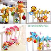 baby toys 0-12 months crib mobile bed bell rattles educational toy for Newborns Car Seat Hanging infant Crib Spiral Stroller Toy