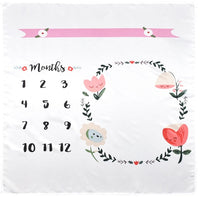 Baby Blanket Milestone Photography Newborn Baby Blanket Monthly Flower Number Photo Prop