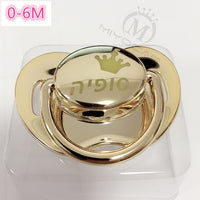 MIYOCAR custom any name personalized gold pink bling pacifier SGS safe pacifier for baby BPA free dummy baby shower gift PP-1111