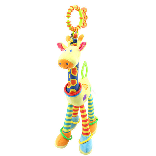 Baby Plush Rattles Bear Mobiles Toys Cow Deer Animal  Infant Stroller Hanging Mobile Rattles Newborn Baby Toys Teether
