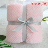 3D fluffy super soft kids bed spread pink blue cozy baby blanket spring toddler bedding quilt coral fleece furry child blanket