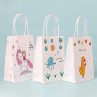 children cartoon animal gift bags cosmetic carrier bags customized bags Baby shower party paper traktatie kinderen verjaardag