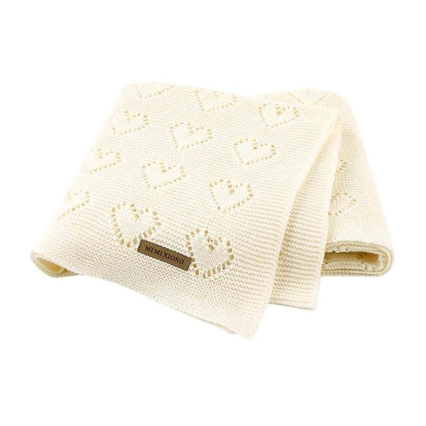 Baby Blankets Knitted Newborn Bebes Stroller Bedding Quilts Cotton Toddler Kids Swaddling Wrap Infantil Unisex Blankets 100*80cm