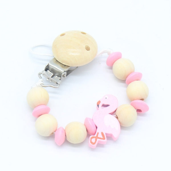 Pacifier Clip Holder Soothie Teething Dummy Baby Products Girl Boy Funny Wooden Teether Shower Gift Attache Sucette