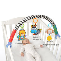 Cute Newborn Rattles Baby Toys Infant Stroller Car Clip Lathe Hanging Seat & Stroller Toys Mobile Educational Toys 0-12 Months