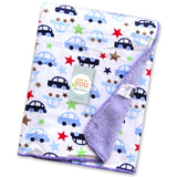 winter baby blankets Cartoon animals Short plush infant swaddle newborn envelope stroller blanket for baby bedding blanket