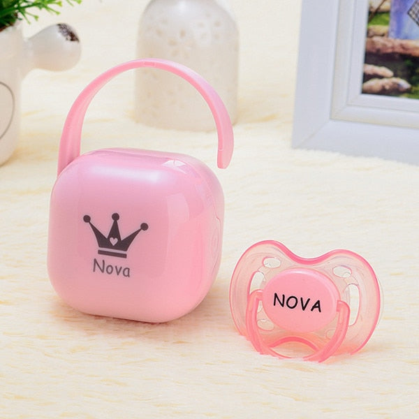 MIYOCAR personalized any name can make Pacifier Storage Box Nipple Dustproof Soother Container gift baby shower custom pacifier
