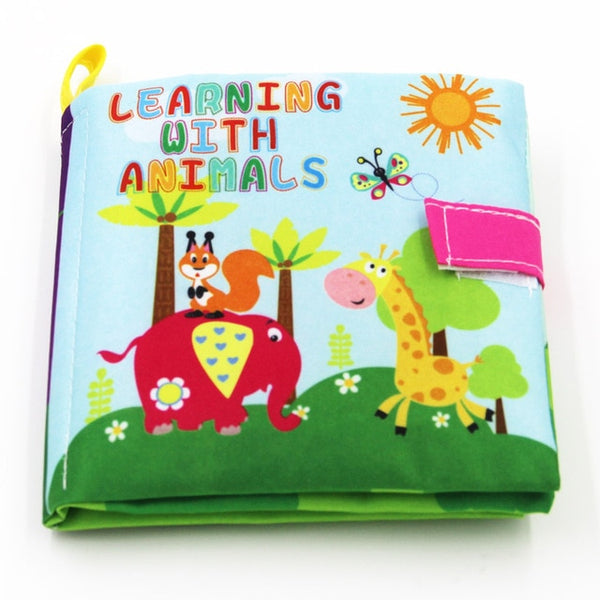 0-36 Months Baby Toys Soft Cloth Books  Infant Educational Stroller Rattle Toy Newborn Crib Bed Baby Toys