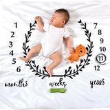 Garland Print Baby Milestone Blanket Photography Monthly Background Cloth Toddler Infant Kids Camera Photo Props