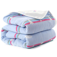 Baby Blanket 110 CM Muslin Cotton 6 Layers Thick Newborn Swaddling Autumn Baby Swaddle Bedding Receiving blanket