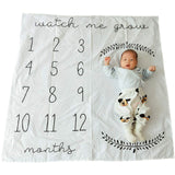 Baby Milestone Blanket Giraffe Print Photography Monthly Background Cloth 100CM Boys Girls Kids Camera Photo Props