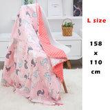 Baby Cotton Blanket Soft Flannel Fleece Swaddling Newborn Toddler minky Bedding Blanket Stroller Wrap Covers Bubbles M/L size