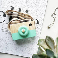 Cute Camera Kids Toy Creation Handmade Wooden Camera Toys Baby Kids Safe Educational Toys Baby Gifts Photography Prop Decoration
