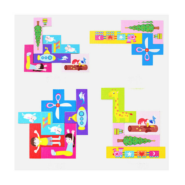 1Pc Building Blocks Puzzle Toy Portable New Girl Gift Practical Kids Tetris JH