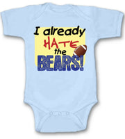I Already Hate Chicago Bears Football Baby Bodysuit Cute New Gift Size & Color