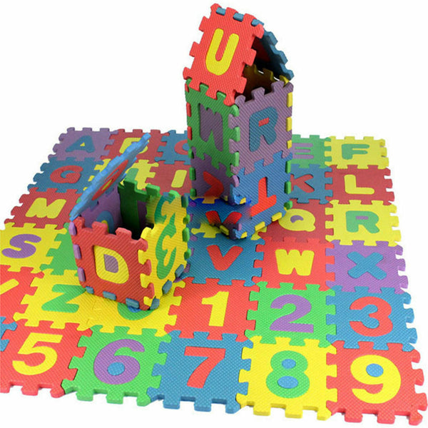 36 pcs Baby Kids Alphanumeric Educational Puzzle Infant Child Toy Gift_DMNWsh