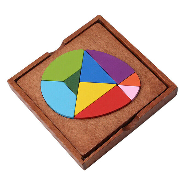 3D Wooden Colorful Puzzles Kids Education Learning Puzzle Toys Home Game Gift YO