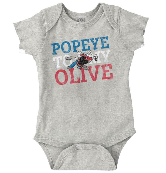 Vintage Popeye To My Olive Oyl Cartoon Gift Newborn Romper Bodysuit For Babies