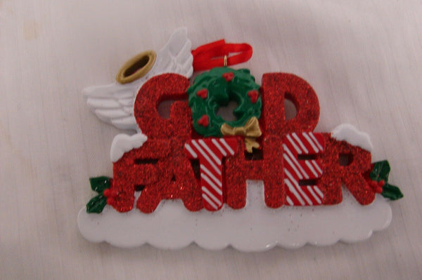 """God Father"" Personalized Christmas Ornament"