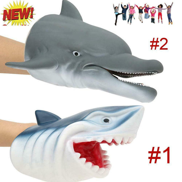 2 Type Marine Animal Hand Glove Puppet Soft Plush Puppets Kid Children Toy Gift