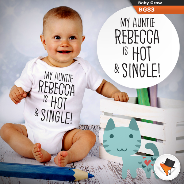 0-3 Months Baby Grows Personalised Aunty Is Hot Christmas Gifts Presents