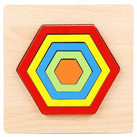 1PC Educational Geometric Puzzle Preschool Hot Sale Puzzle Gift Creative Baby BL