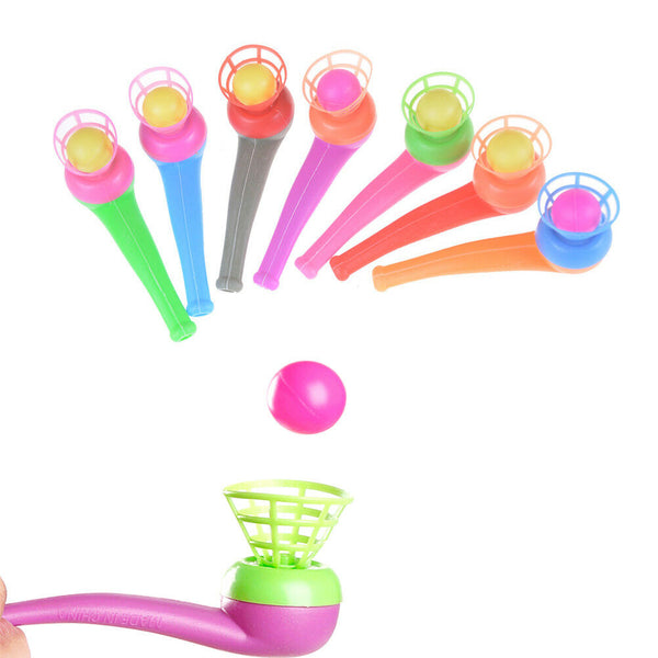 4pcs Kid Plastic Pipe Balls Toy Blow Blowing Toys Children Gift Wedding Party JU