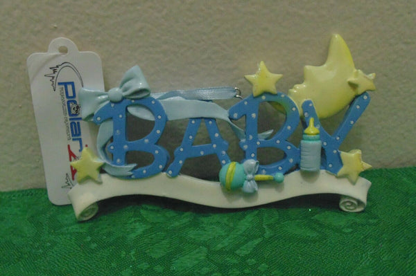 """Baby"" (Boy) Personalized Christmas Tree Ornament Holiday Gift"