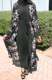 Rustic Floral Open Abaya