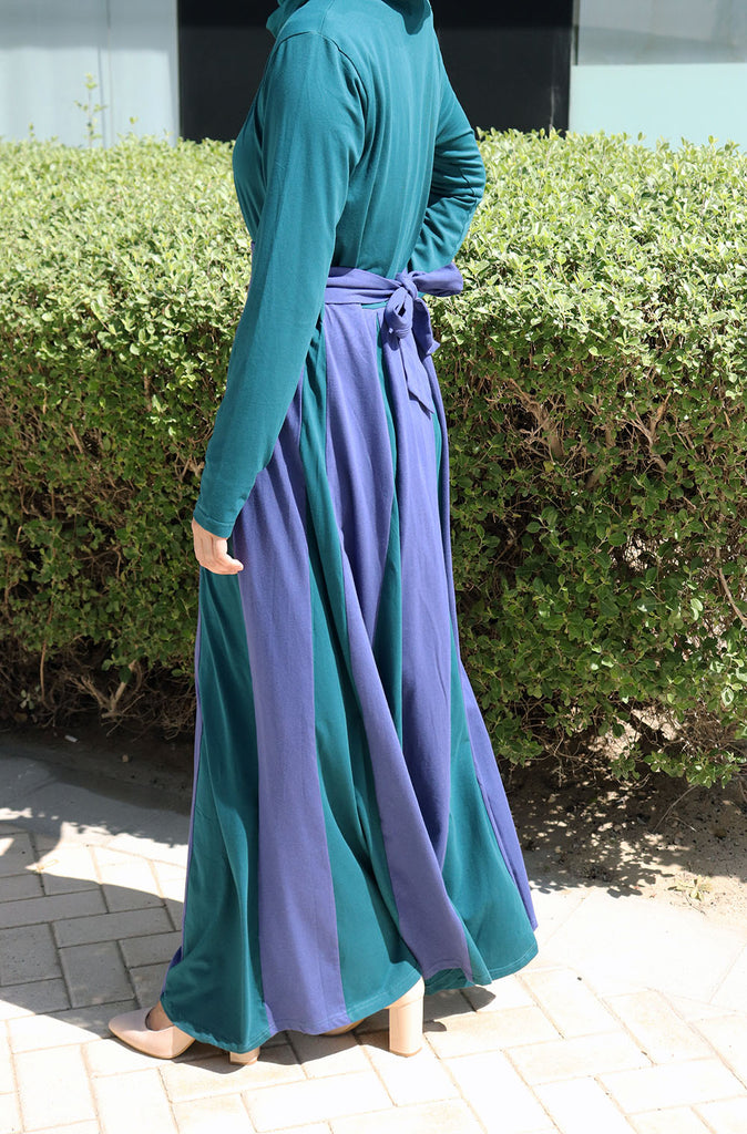 Two-toned Box Pleated Dress