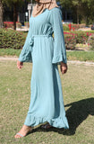 Bell Sleeved Comfy Maxi Dress - Teal