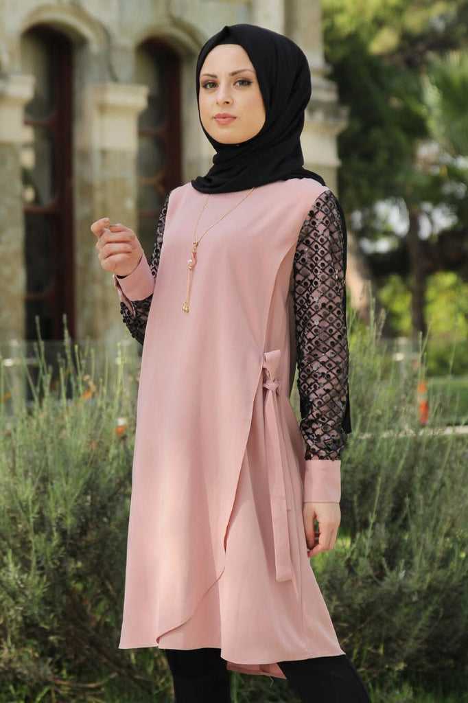 Pink Sequin Tunic