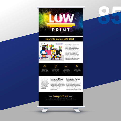 Roll Up personalizado 85 x 200 cm - LowPrint