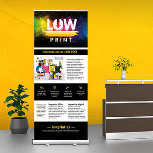 Roll Up personalizado 85 x 200 cm - Mock Up LowPrint