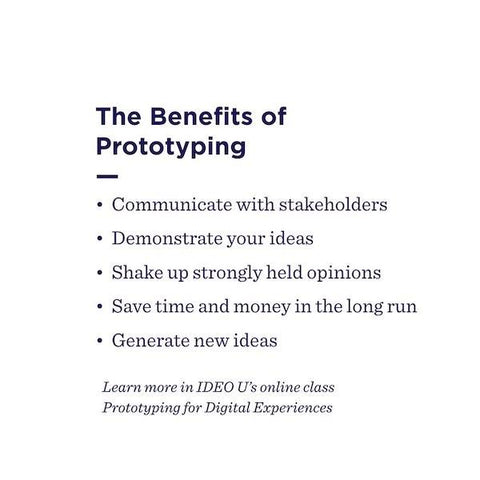 The benefits of prototyping
