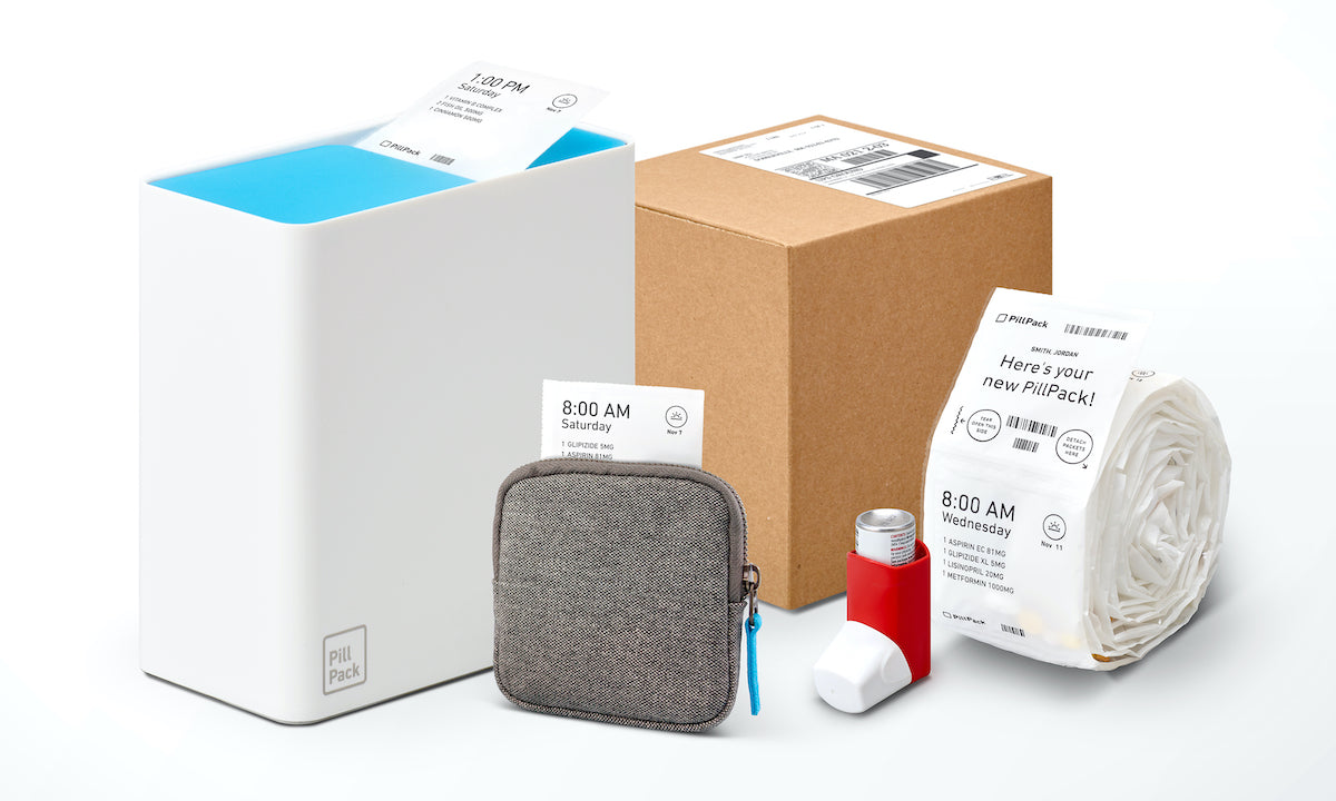 Medications packaged and labeled in different containers.