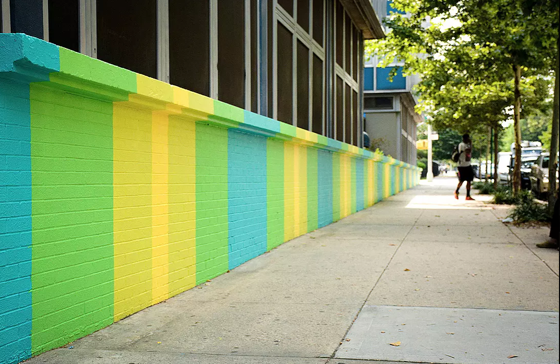Colorful Publicolor Wall in Harlem