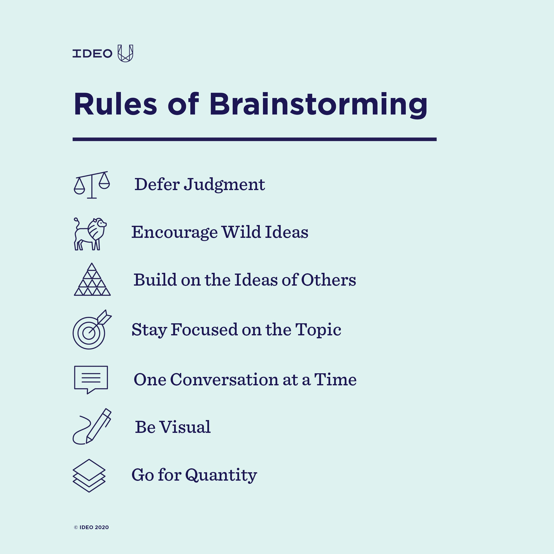 7 Simple Rules Of Brainstorming Ideo U