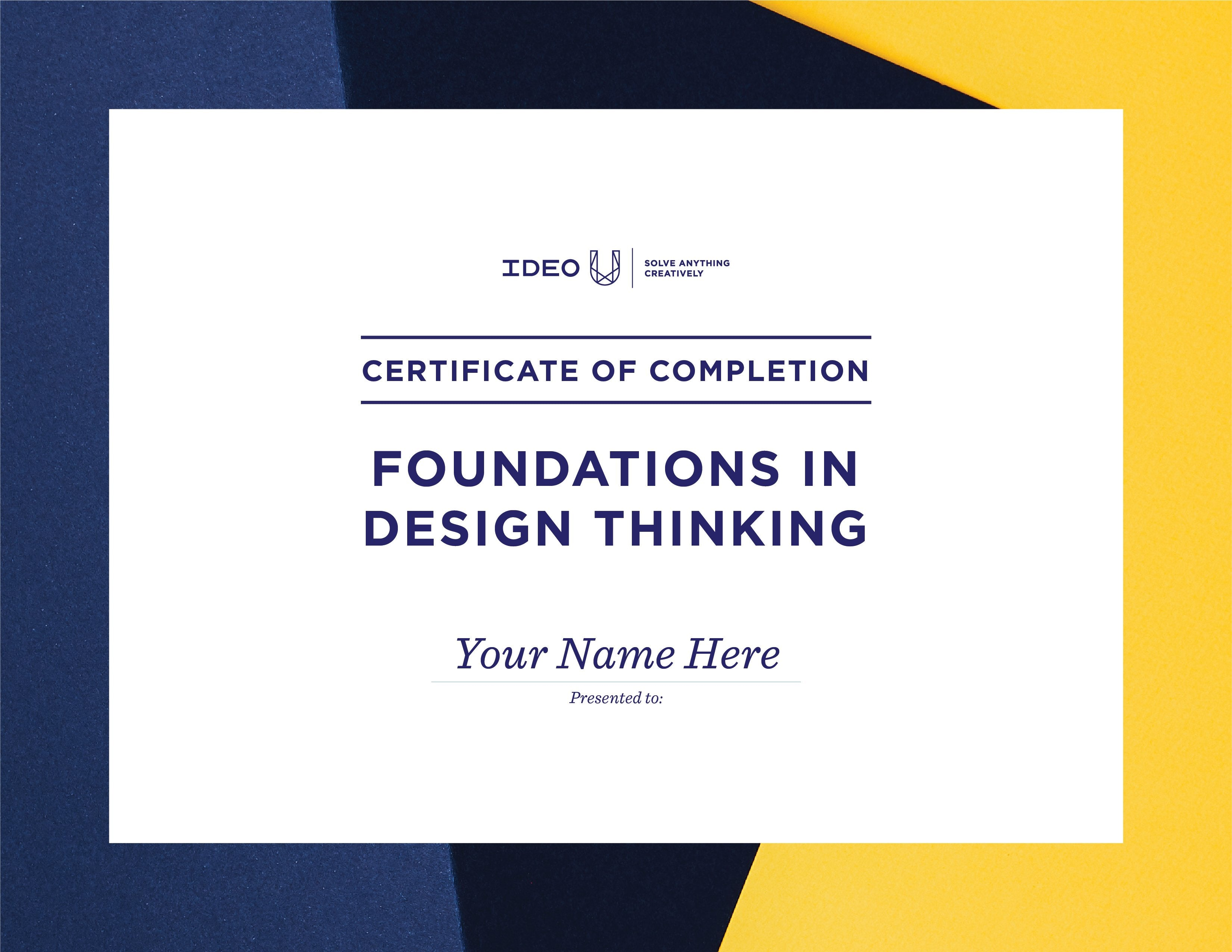 Foundations In Design Thinking Certificate Ideo U