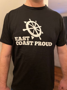 East Coast Proud - Black T-Shirt w/ White Logo - Mens & Ladies Sizes