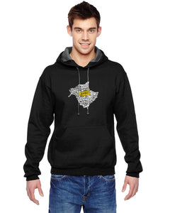 New Brunswick Map - East Coast Proud Hoodie
