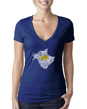 Load image into Gallery viewer, New Brunswick Map - East Coast Proud Ladies V-Neck Shirt