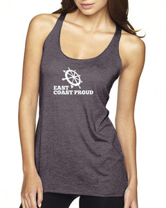 East Coast Proud - Ladies Dark Racerback Tank